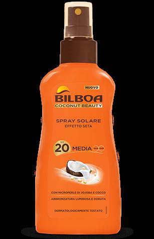 bilboa coconut beauty spray no gas SPF 20